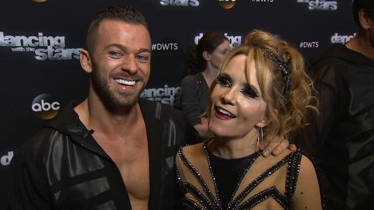 Lea Thompson and Artem Chigvintsev on Dancing With The Stars week 7 on Monday, Oct. 27, 2014.