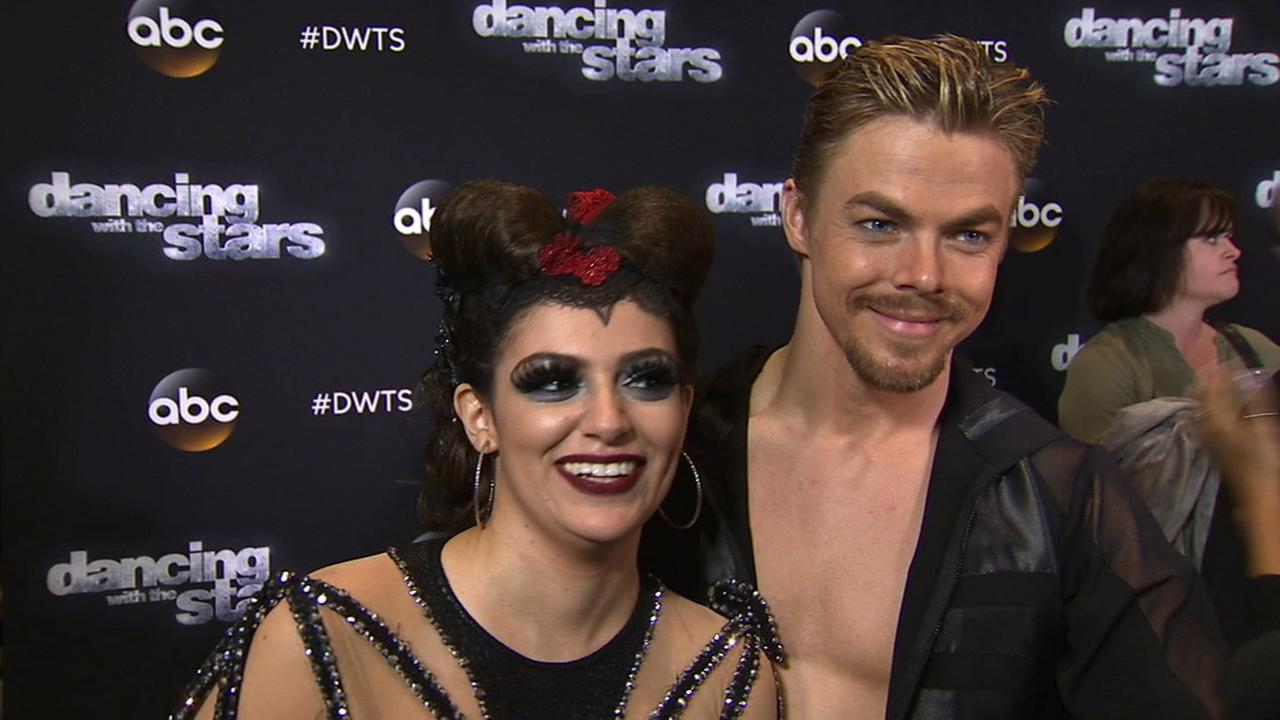 Bethany Mota and Derek Hough on Dancing With The Stars week 7 on Monday, Oct. 27, 2014.