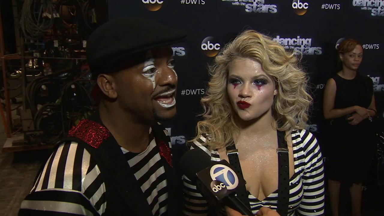 Alfonso Ribeiro, left, and Witney Carson, right, talk dancing under pressure on Dancing With The Stars.