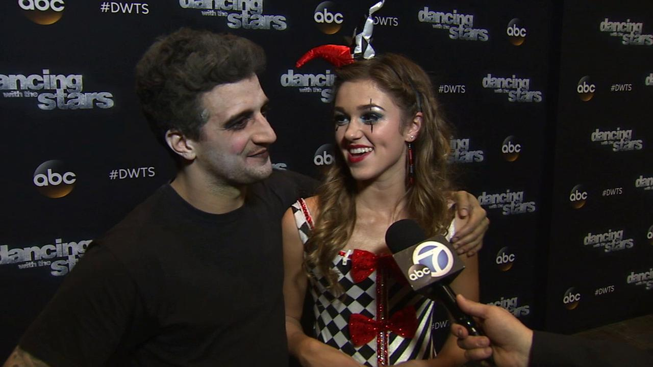 Sadie Robertson and Mark Ballas on Dancing With The Stars week 7 on Monday, Oct. 27, 2014.