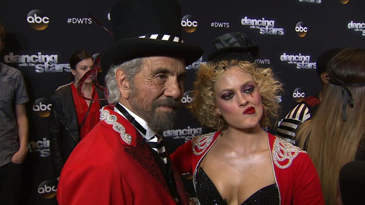 Tommy Chong and Peta Murgatroyd on Dancing With The Stars week 7 on Monday, Oct. 27, 2014.
