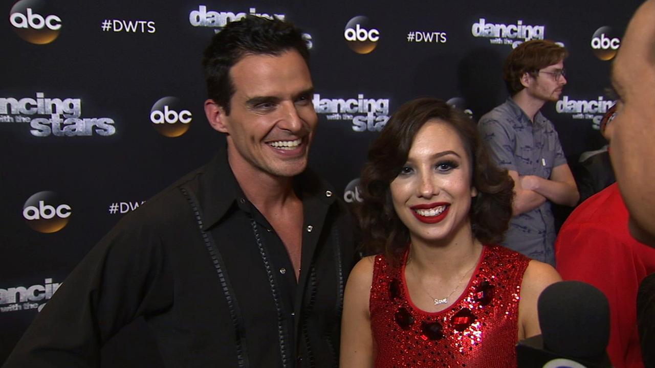 Antonio Sabato Jr. and Cheryl Burke on Dancing With The Stars week 7 on Monday, Oct. 27, 2014.