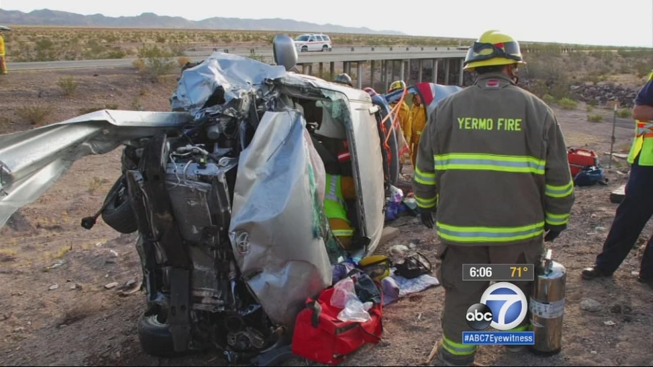 A guardrail speared a vehicle in a crash in 2011 in San Bernardino County.