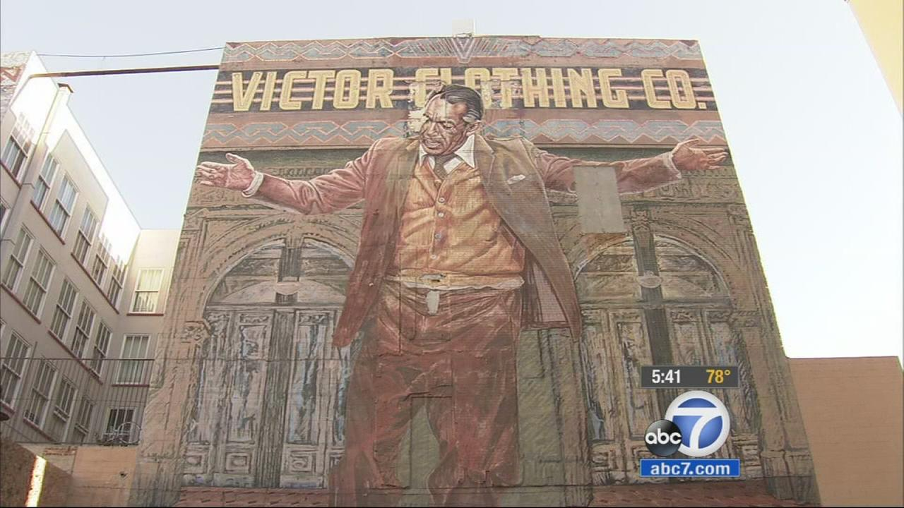 Iconic anthony quinn mural in downtown la getting makeover for Anthony quinn mural