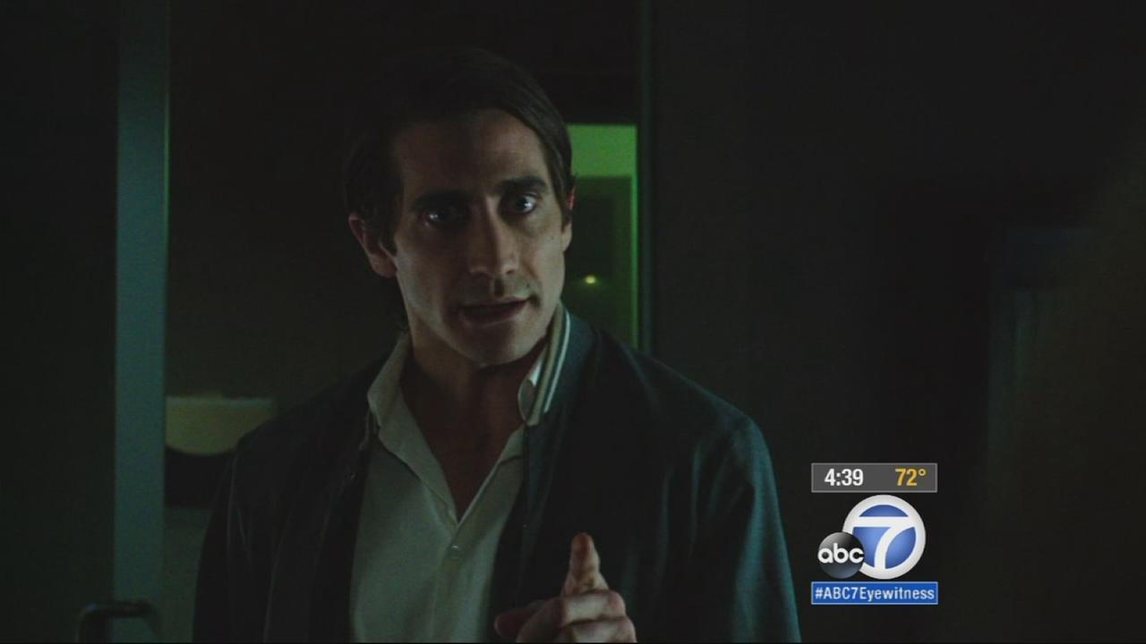 Actor Jake Gyllenhaal is seen in the movie Nightcrawler.