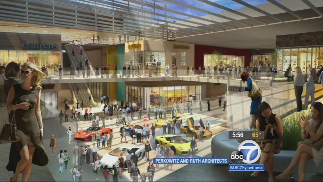 A rendering of an outlet mall Hawthorne officials are hoping will be open in two or three years is shown.