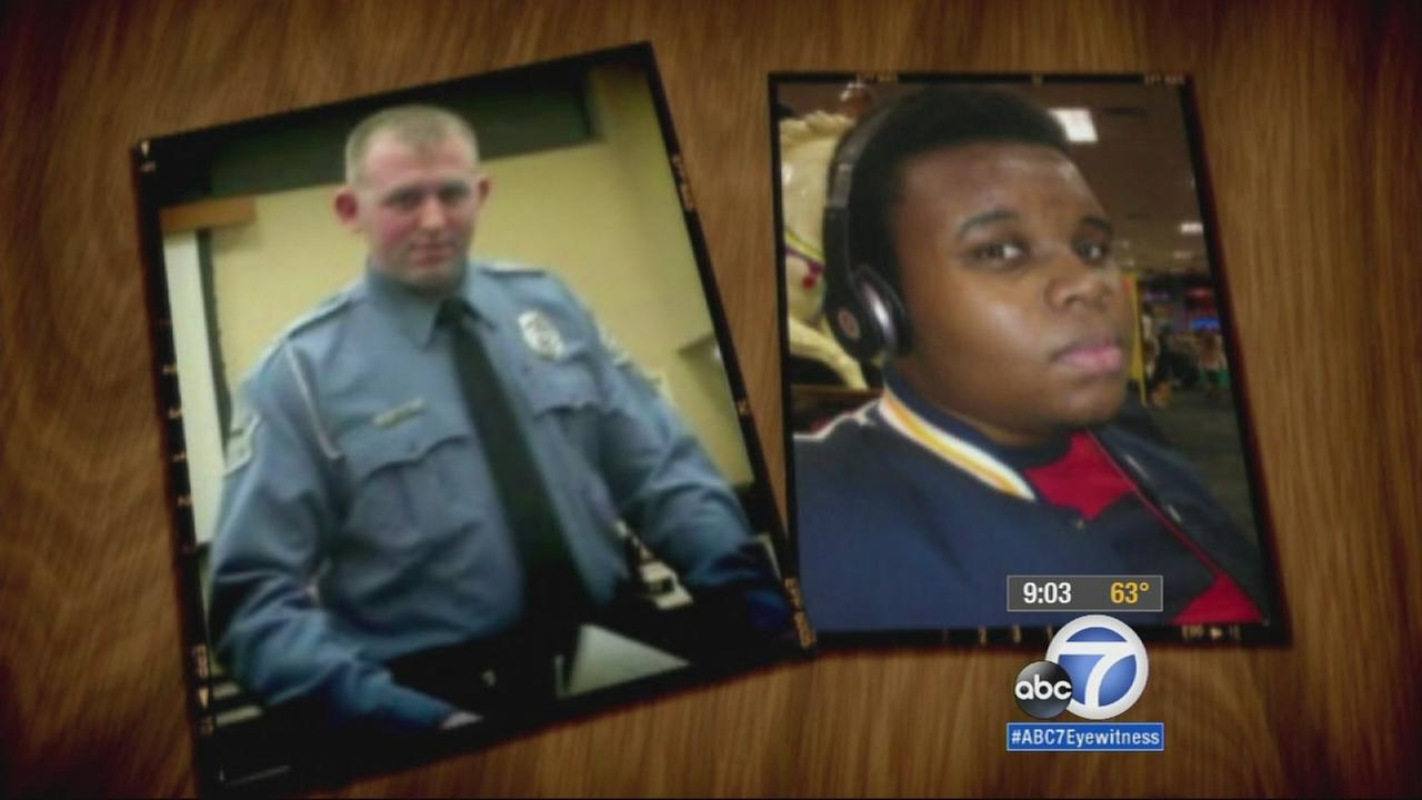 Darren Wilson, left. Michael Brown, right.
