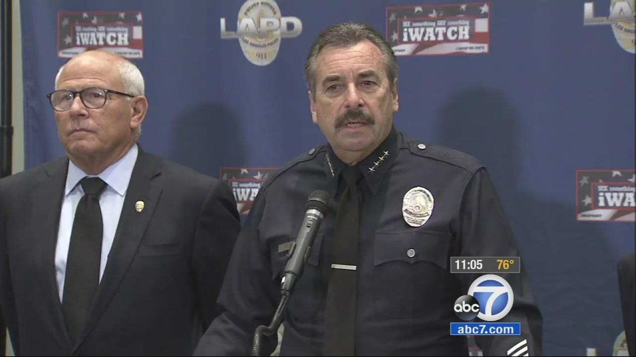 LAPD Chief Charlie Beck speaks at a news conference on Tuesday, Nov. 25, 2014.