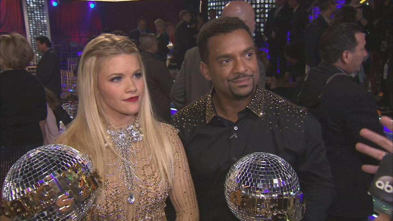 Fresh Prince of Bel-Air actor Alfonso Ribeiro talks about the finale of Dancing With The Stars on Tuesday, Nov. 25, 2014.