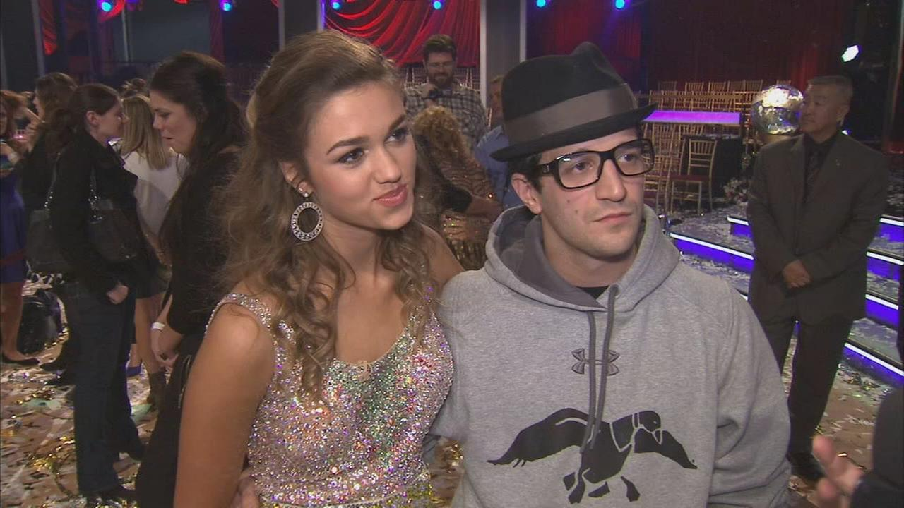 Duck Dynasty star Sadie Robertson and her partner Mark Ballas talk about the finale of Dancing With The Stars on Tuesday, Nov. 25, 2014.