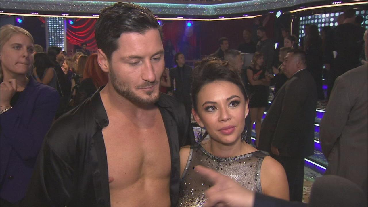 Pretty Little Liars actress Janel Parrish and Val Chmerkovskiy talk about the finale of Dancing With The Stars on Tuesday, Nov. 25, 2014.