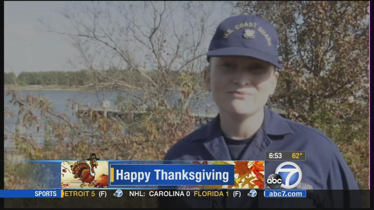 Seaman Elisabeth Ingraham offers this holiday greeting to loved ones. (Aired 6 a.m. 11/27/14)