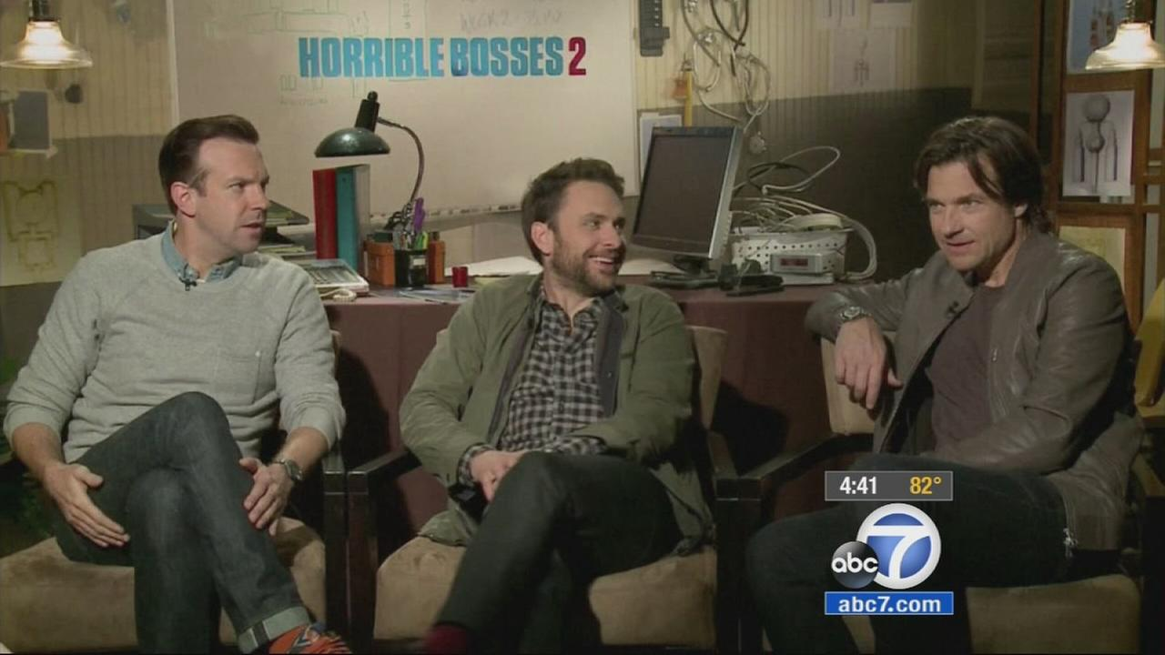 Part of the cast from Horrible Bosses 2.