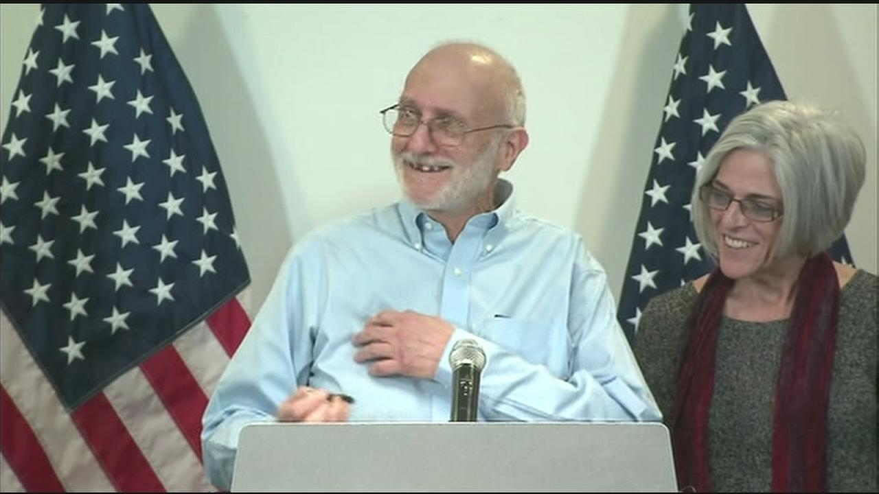 American Alan Gross speaks about his release from Cuba on Wednesday, Dec. 17, 2014.