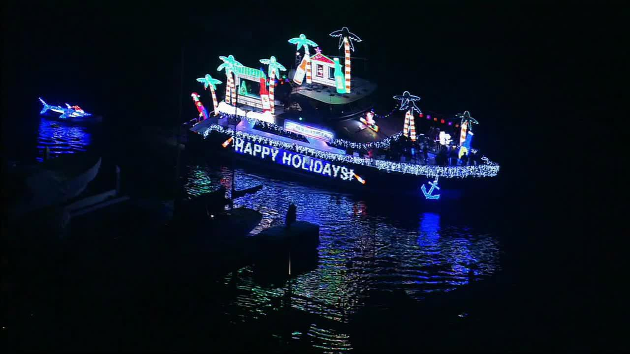 A boat is seen at the Newport Beach Christmas Boat Parade in this undated file photo.