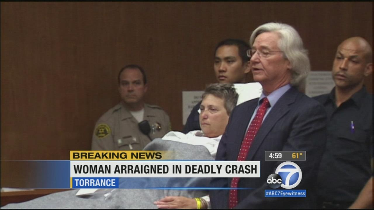 A Redondo Beach woman pleaded not guilty to five felony counts in connection to a crash outside a church that killed four people.