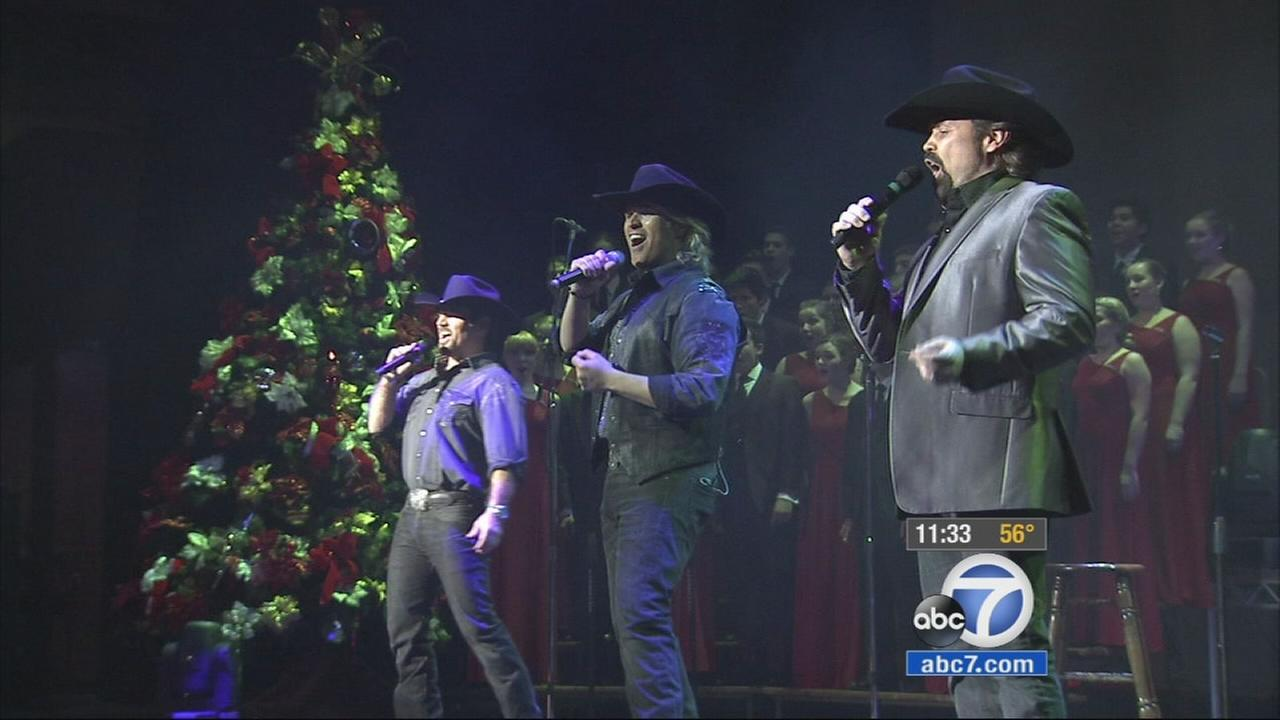 The Texas Tenors perform at the Ambassador Auditorium, home of the H-Rock Church in Pasadena, Sunday, Dec. 21, 2014.