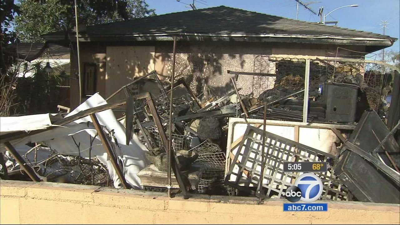 Los Angeles police are collecting money, toys and other donations for a family who lost everything in a house fire in Mar Vista on Dec. 22, 2014.