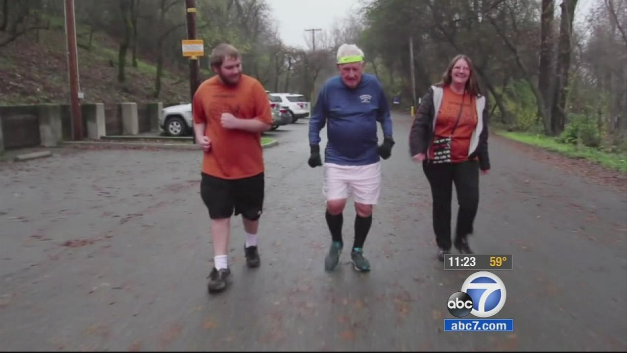 Ernie Andrus, a 91-year-old WWII veteran from Redding, is running across the country to raise money and awareness for a cause close to his heart.