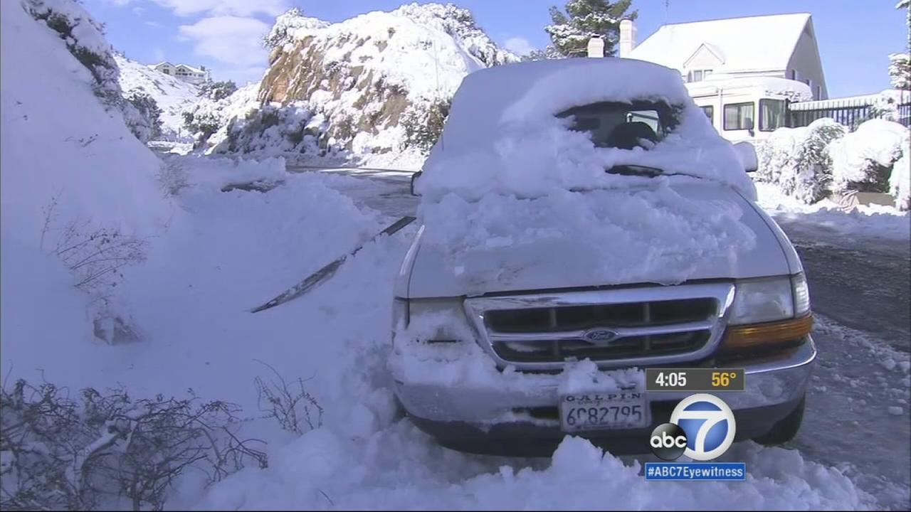 Some Orange County residents have never seen snow in the area until Wednesday.