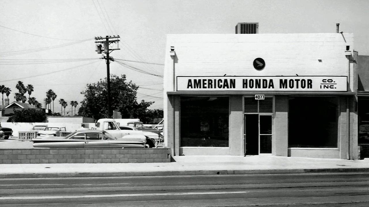 The first Honda shop in Los Angeles on Pico Boulevard is seen in this undated file photo.