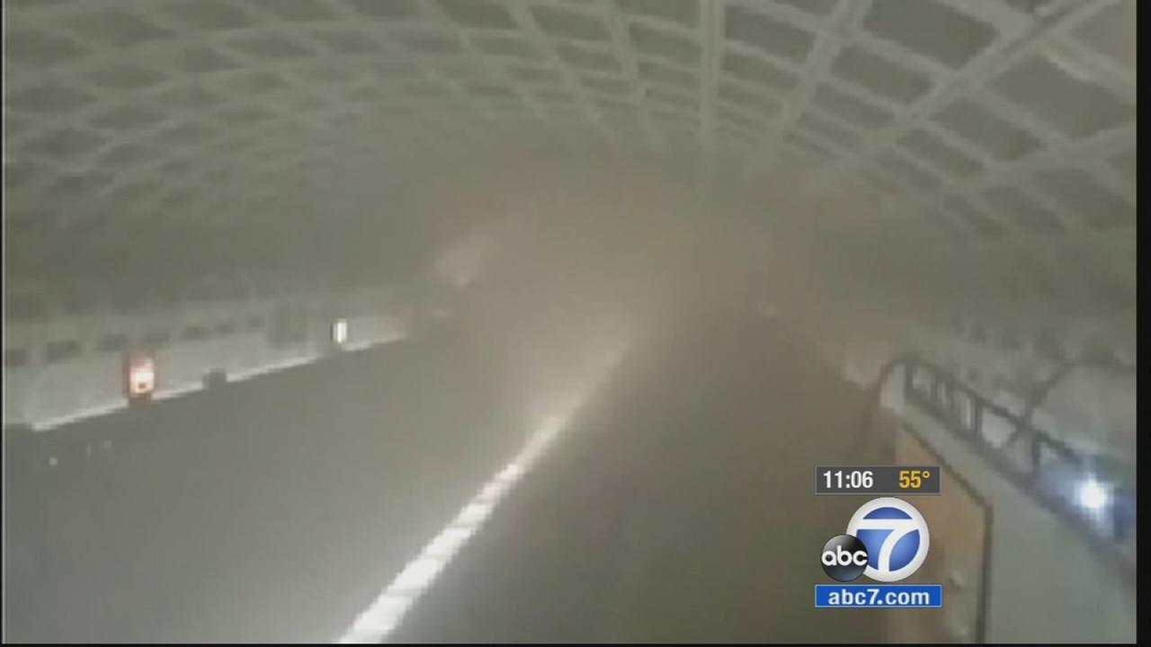 Smoke from an unidentified source filled a busy downtown subway station in the nations capital Monday, Jan. 12, 2015.