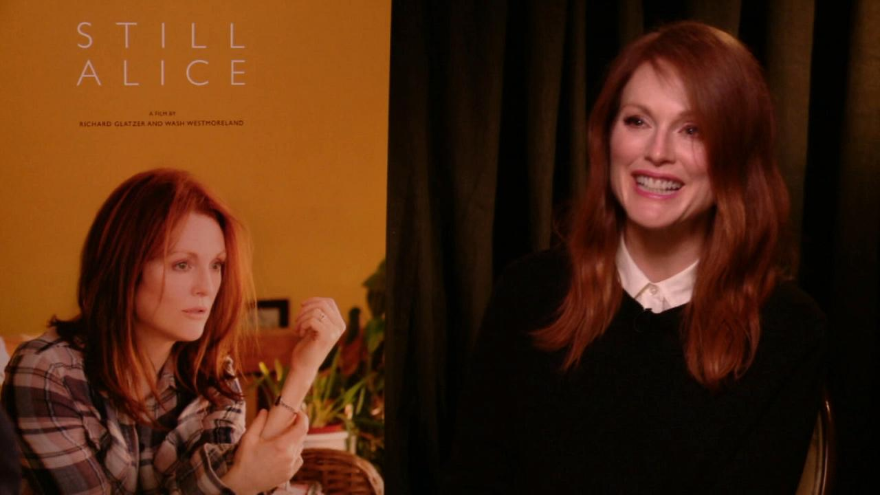 Actress Julianne Moore talks about her role as a person diagnosed with Alzheimers disease in her latest movie Still Alice.