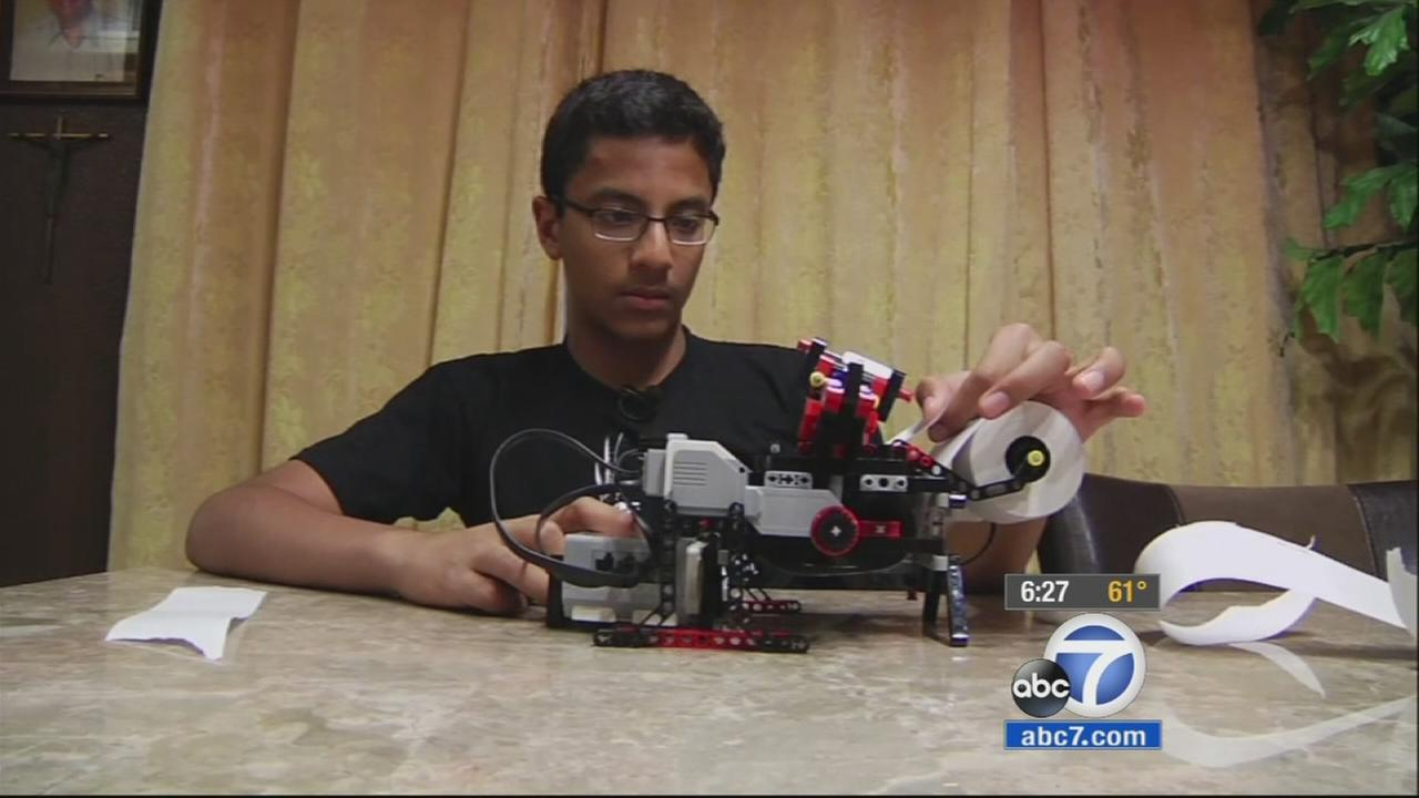 A California middle school student designed a new and cheaper way to print in Braille, and he built it with Legos.