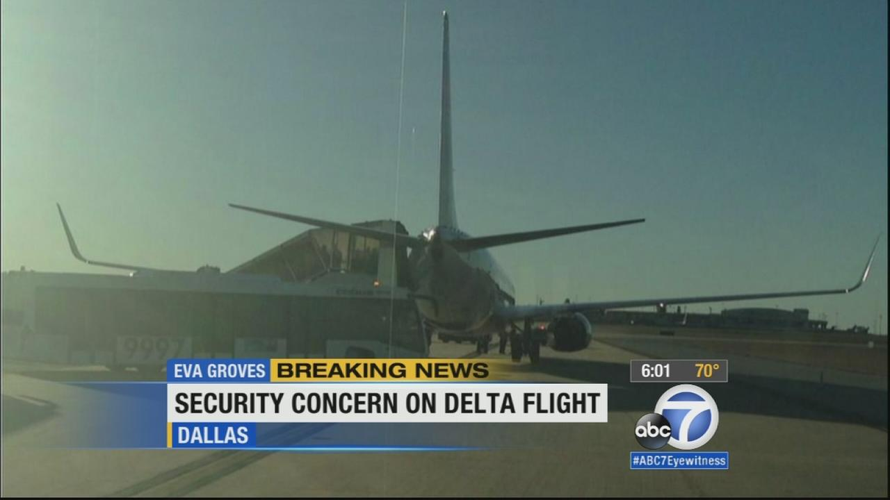 Security issues were reported on two different flights from Southern California, but its unknown if the two incidents were related.