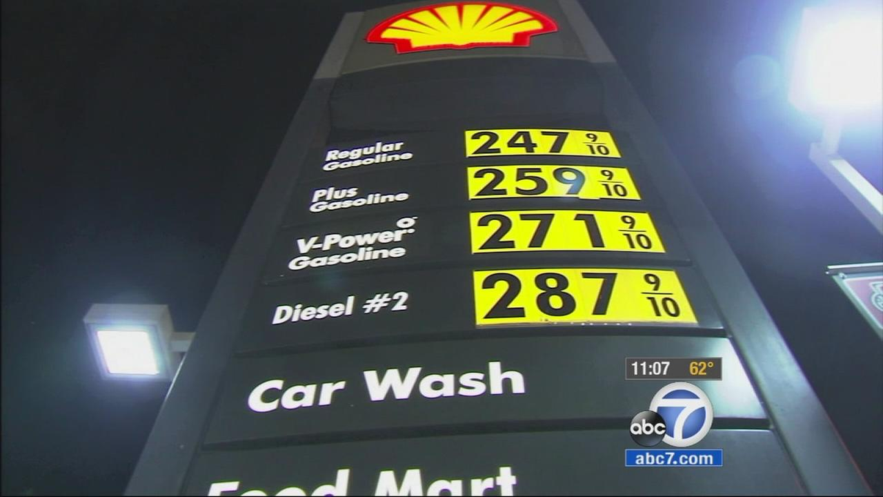 A sign shows the prices for gas at a Shell station in this undated file photo.