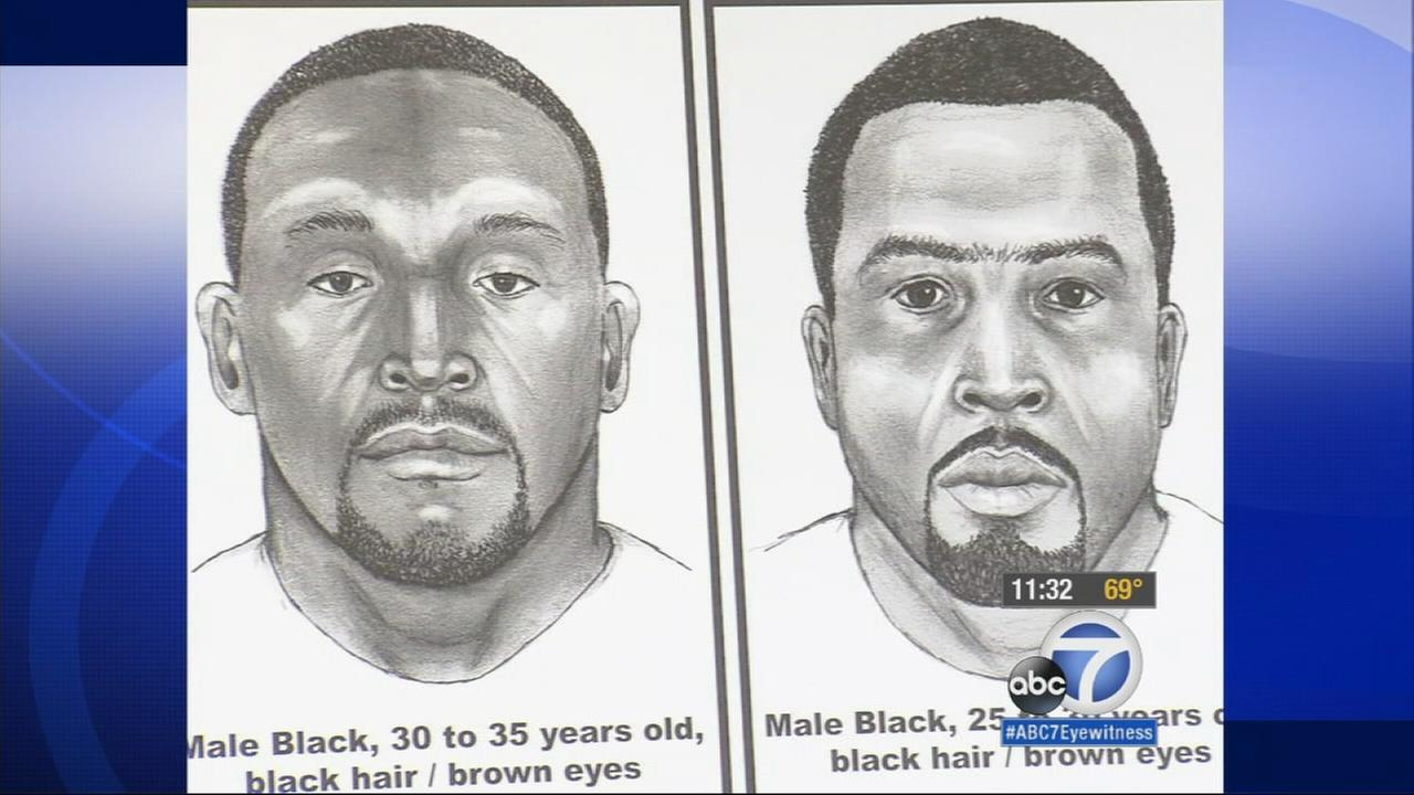 Detectives are seeking the publics help finding the gunmen who shot and killed two men in the Rancho Dominguez area in May 2014.