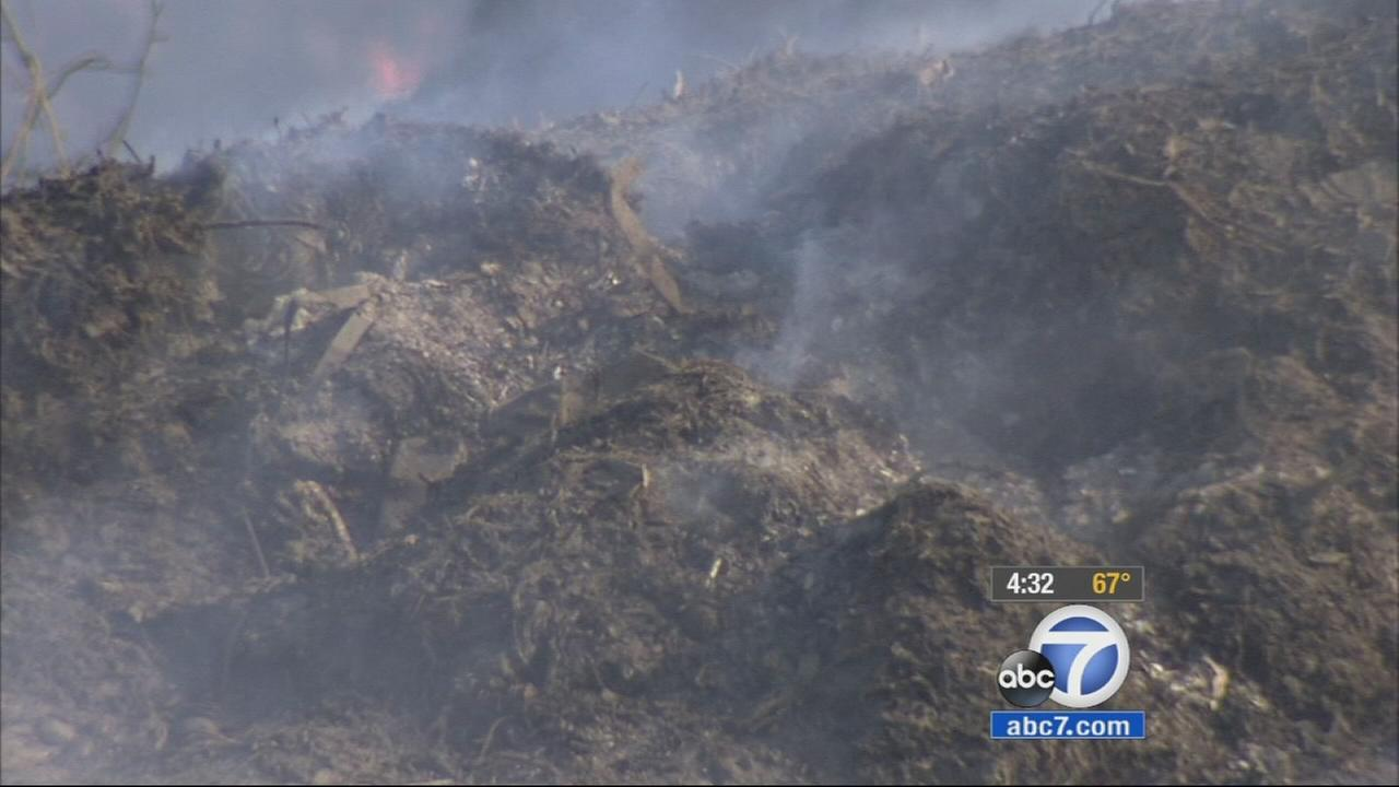 Ontario residents are complaining about the smell of a mulch fire and are concerned about the health effects from the smoke since the fire started four days ago.