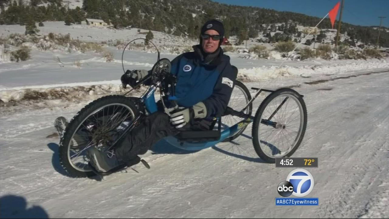 A 60-year-old woman who is partially paralyzed is ready to compete in the 2015 Antarctic Ice Marathon.