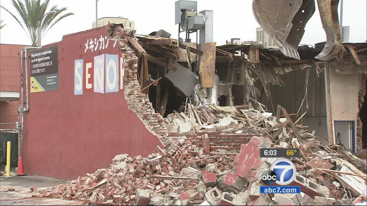 The Los Angeles landmark was demolished as a result of eminent domain, and a new subway station will be in its spot.