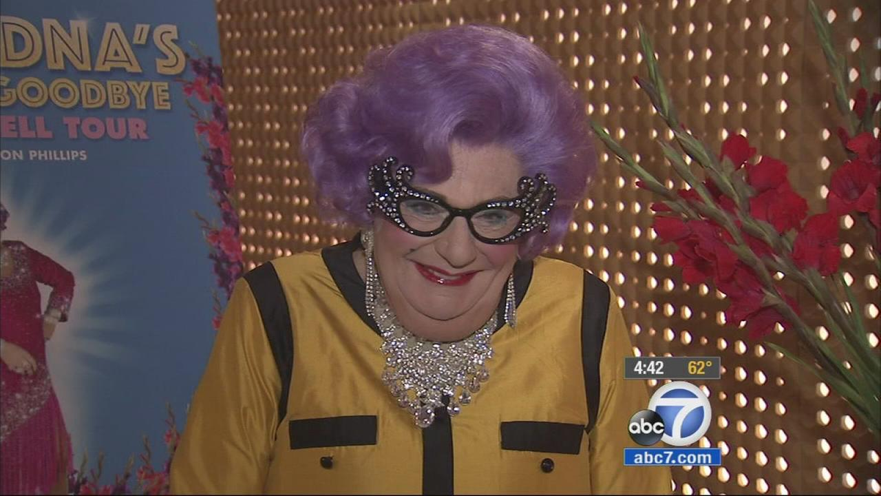 For the next seven weeks, Dame Edna Everage is bringing her sassy self, purple hair and sparkly glasses to the Ahmanson Theatre
