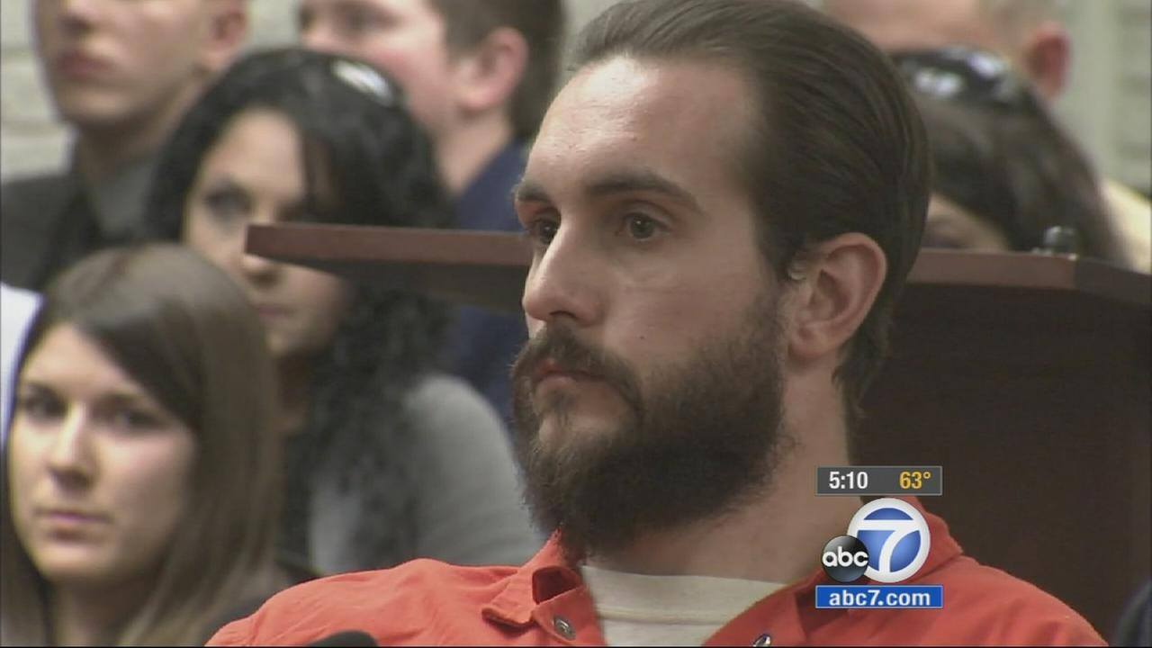 Jared Hale, 25, was sentenced to 11 years in prison for killing three of his fellow marines in a car crash in Dana Point in 2012.