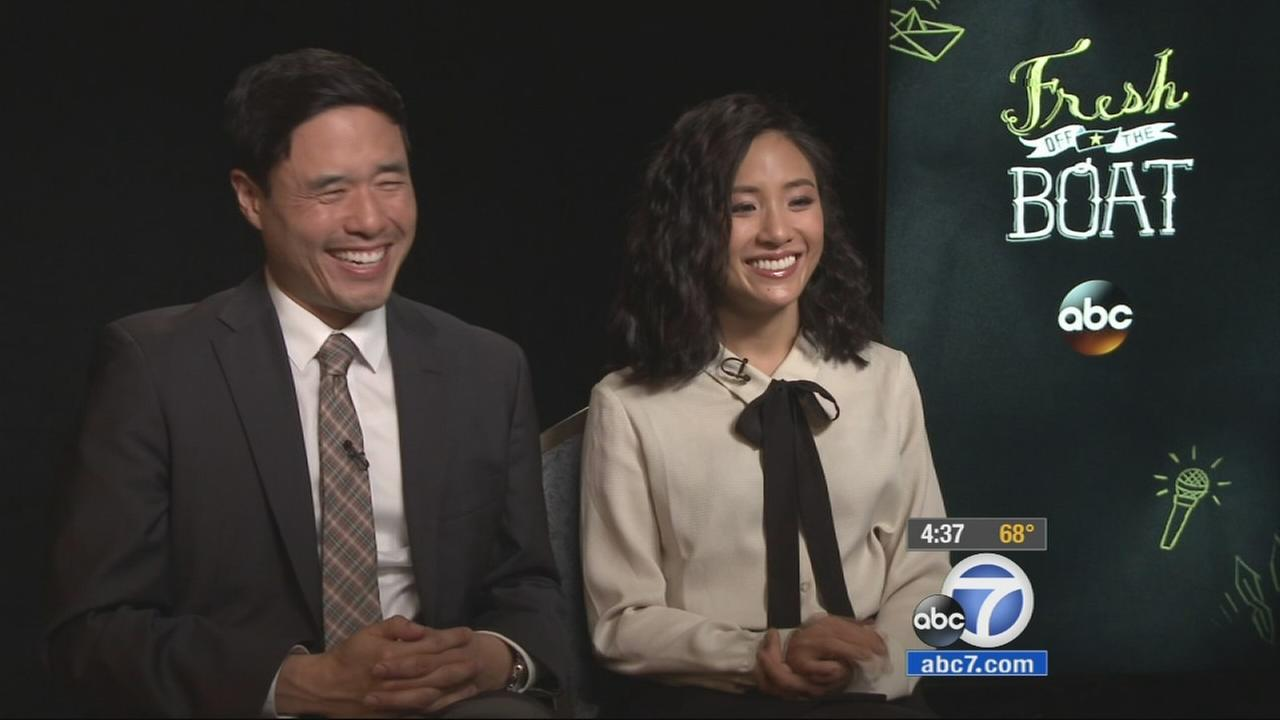 Randall Park and Constance Wu promote their new ABC sitcom, Fresh off the Boat.