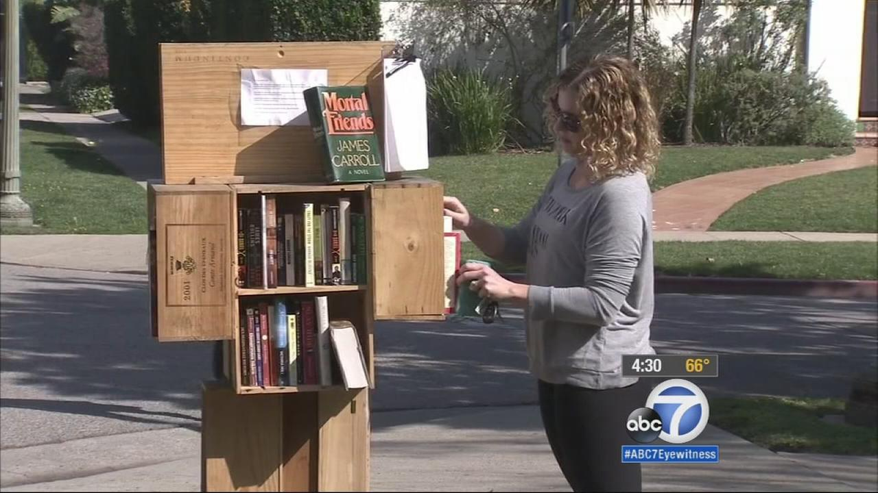 A West Los Angeles homeowner was served a notice of violation because her Little Free Library is technically on public property.