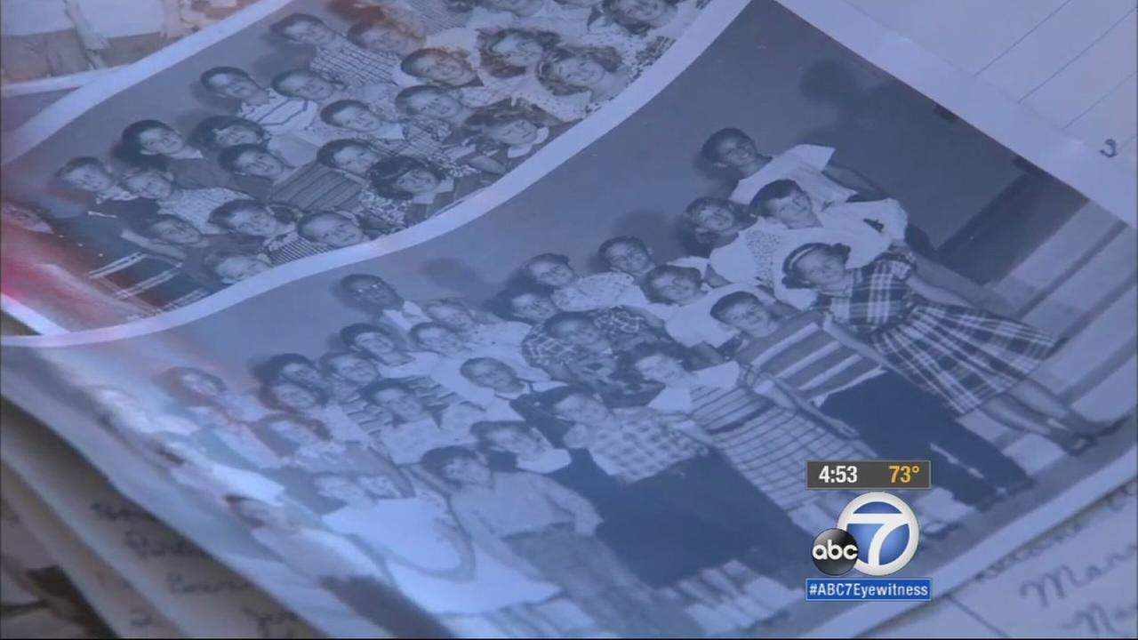 A time capsule, which was placed in a wall at a Pomona elementary school in 1956, was opened at a special ceremony Tuesday.