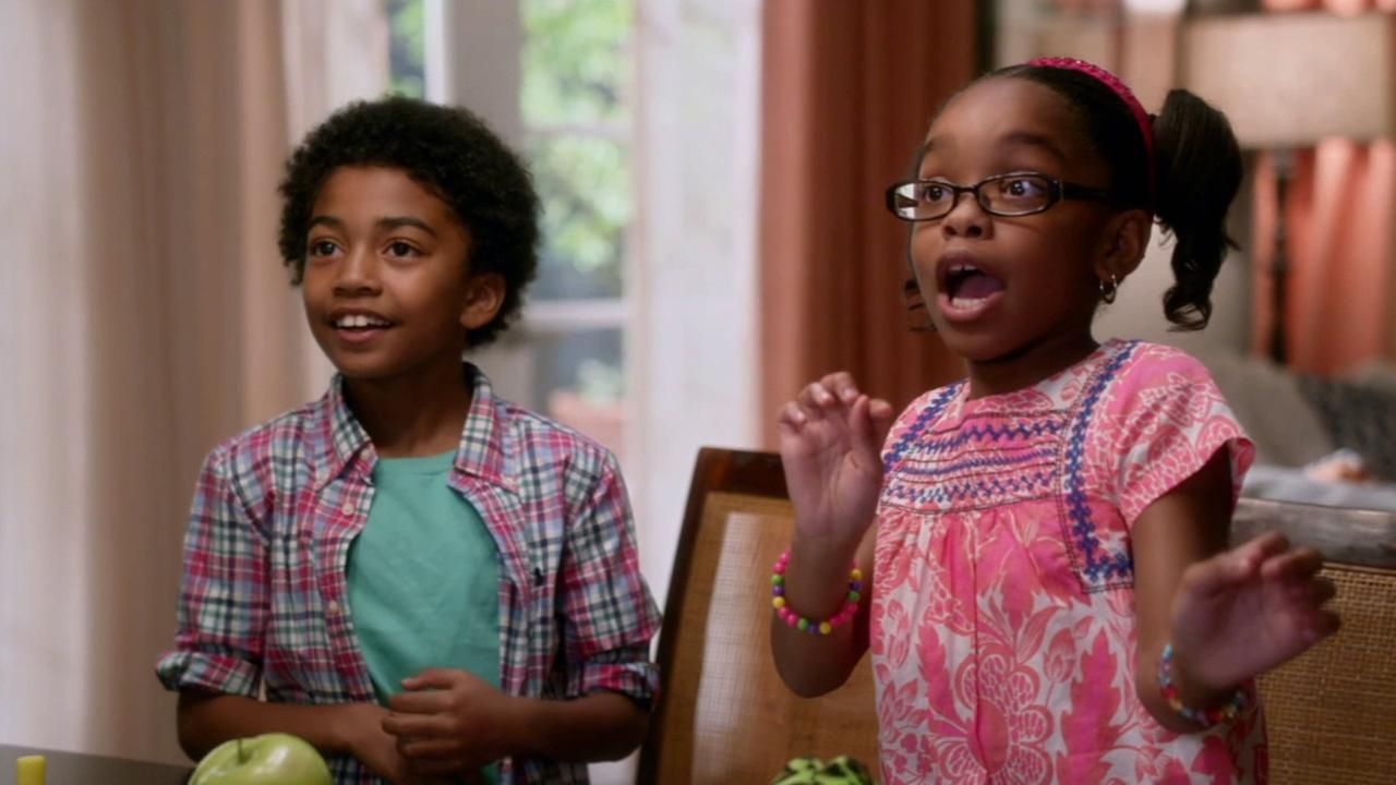 Child actors Miles Brown and Marsai Martin appear in ABCs comedy Black-ish.