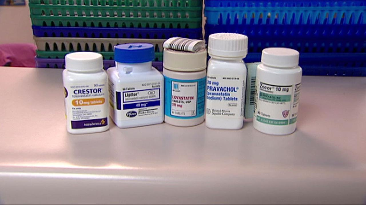 Several statin drugs are shown in an undated photo.