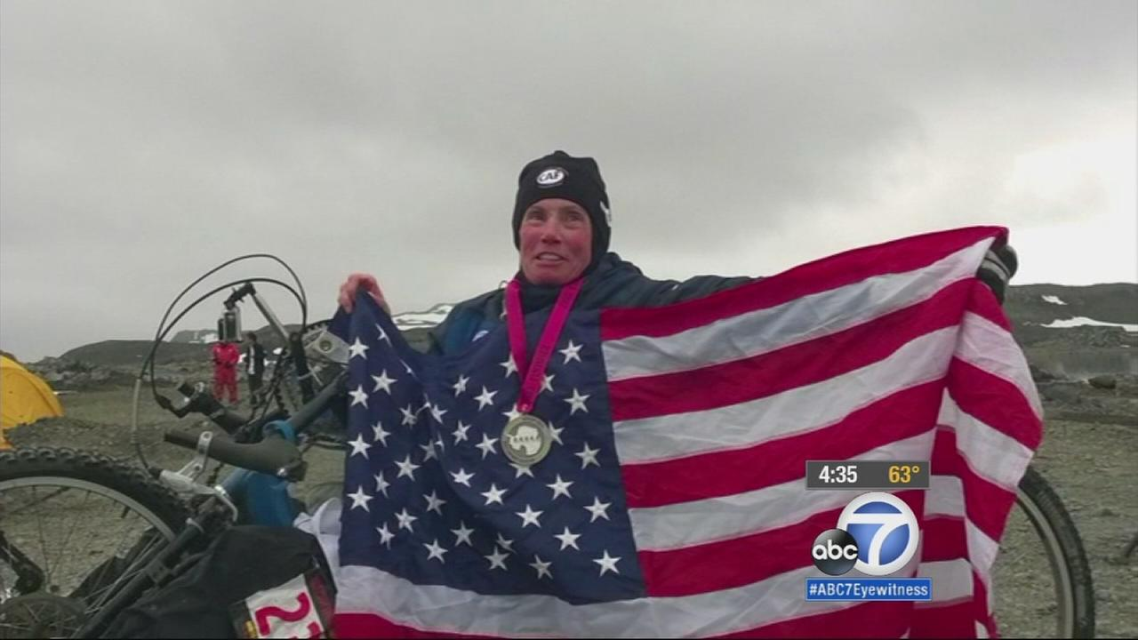 Beth Sanden, a 60-year-old partially paralyzed marathoner, completed her dream of competing on all seven continents.