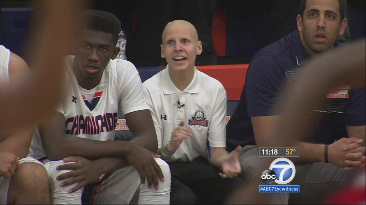 A cancer-stricken student in West Hills was hired as an assistant coach on the high school basketball team.