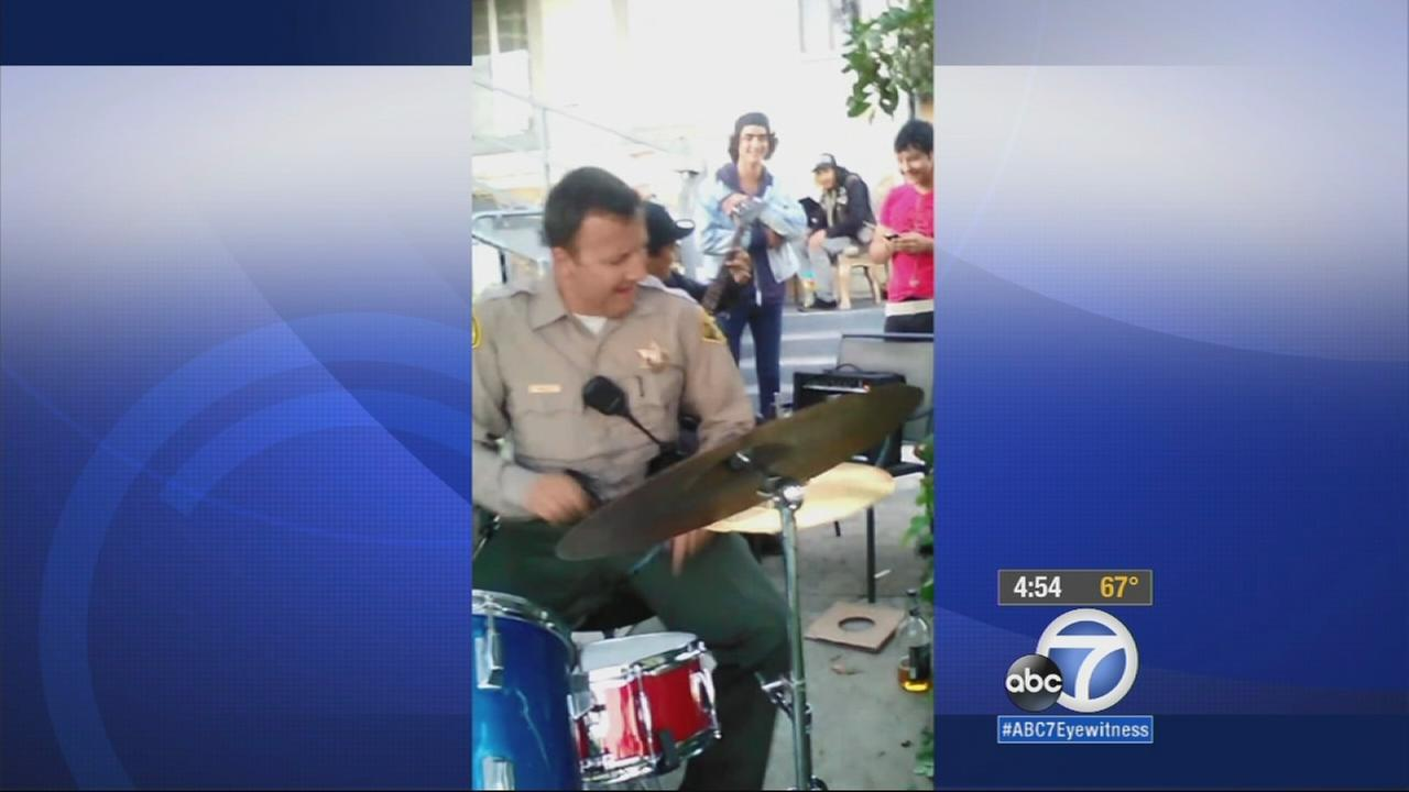 A sheriffs deputy is getting a lot of attention on social media for his drumming skills.
