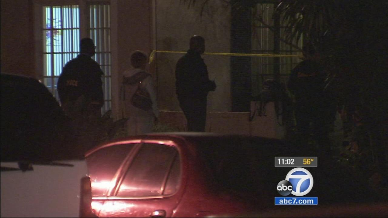 A man and a woman were found dead in a possible murder-suicide at a Beverly Hills apartment building in the 300 block of S. Elm Drive Wednesday.