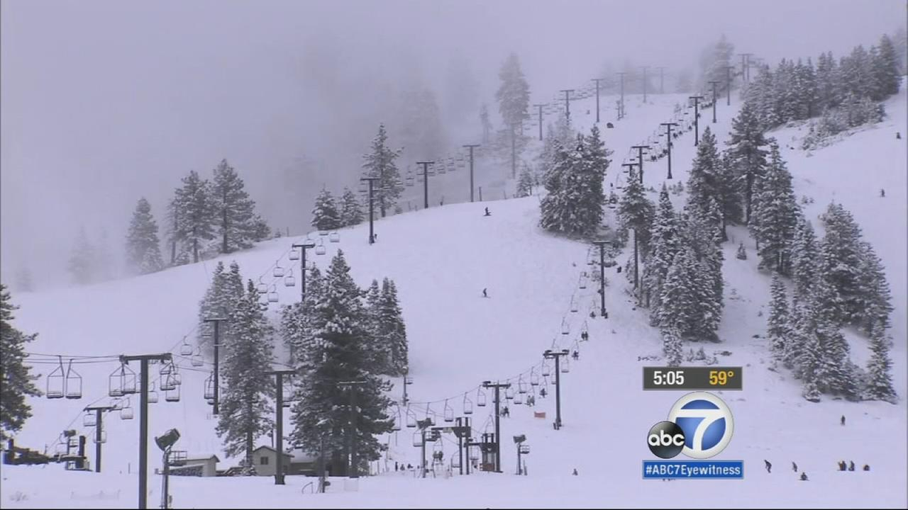Snow covered the mountain areas overnight and brought a few inches of fresh powder.