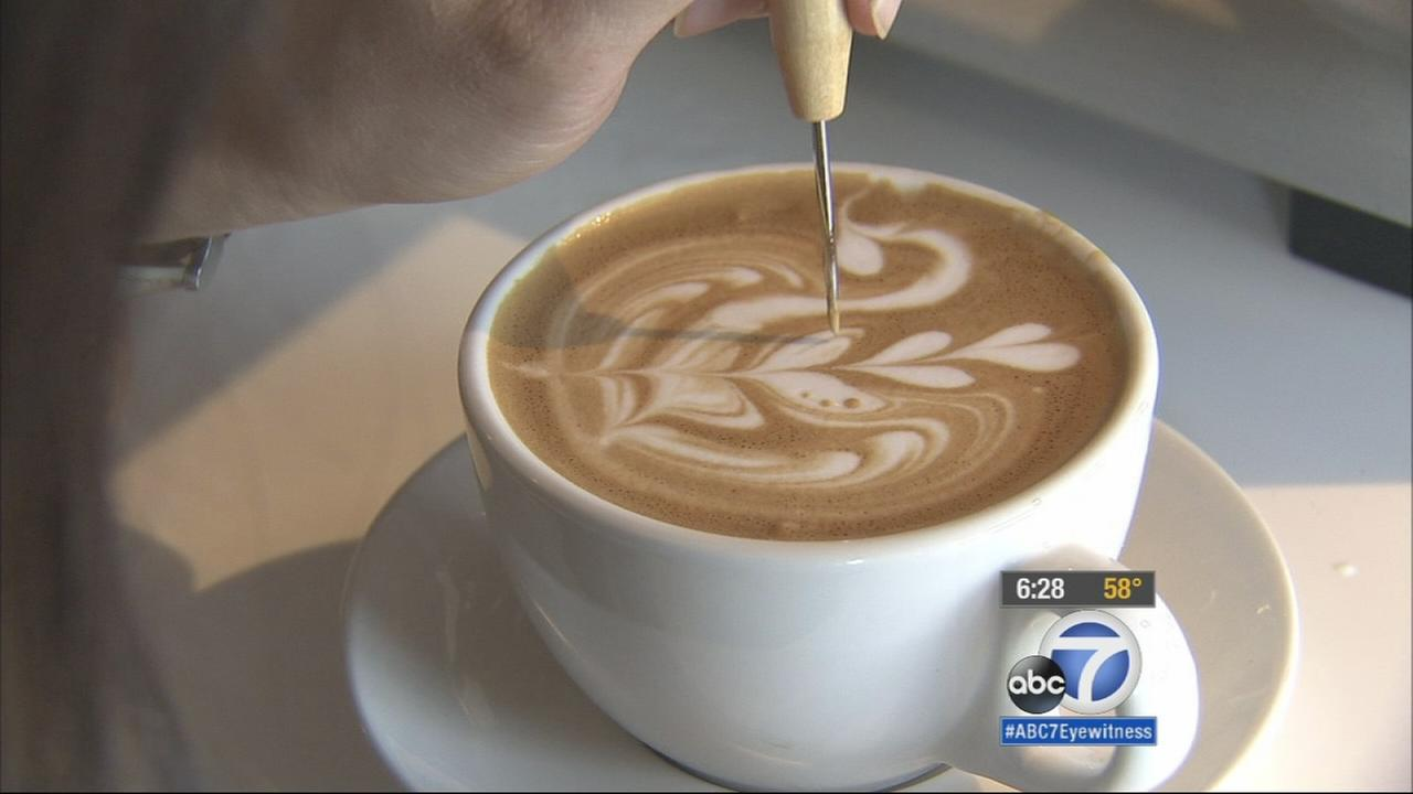 A latte artist from Orange County is savoring her victory at the U.S. Coffee Championships.