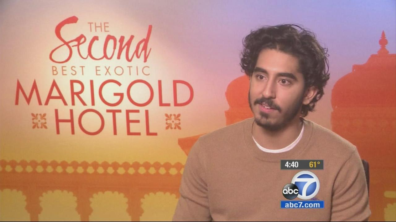 Dev Patel said getting to work with award-winning actress Dame Maggie Smith again was a real treat.