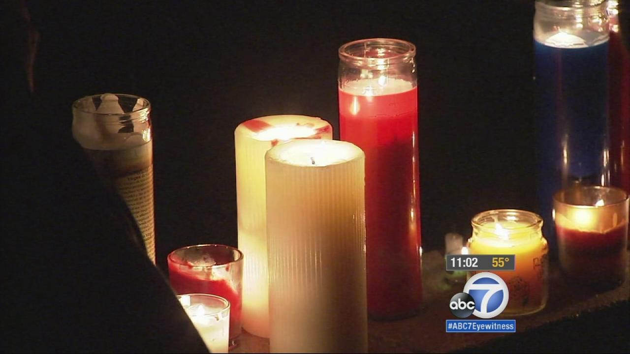 Students held a vigil for a 31-year-old teacher who committed suicide in an El Dorado High School classroom Monday.