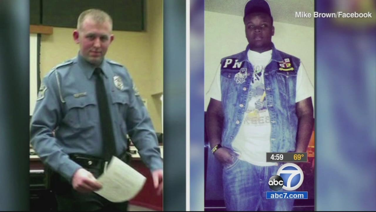 Darren Wilson (left). Michael Brown (right).